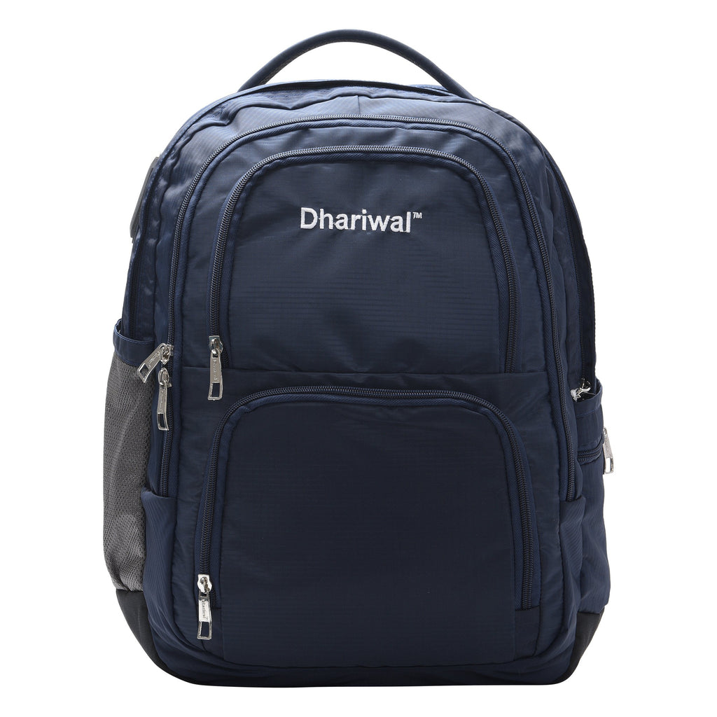 Dhariwal Unisex Dual Compartment Laptop Backpack With Back Air Flow Cushion 34L LB-105 Laptop Bags Mohanlal Jain (Dhariwal Bags) Blue