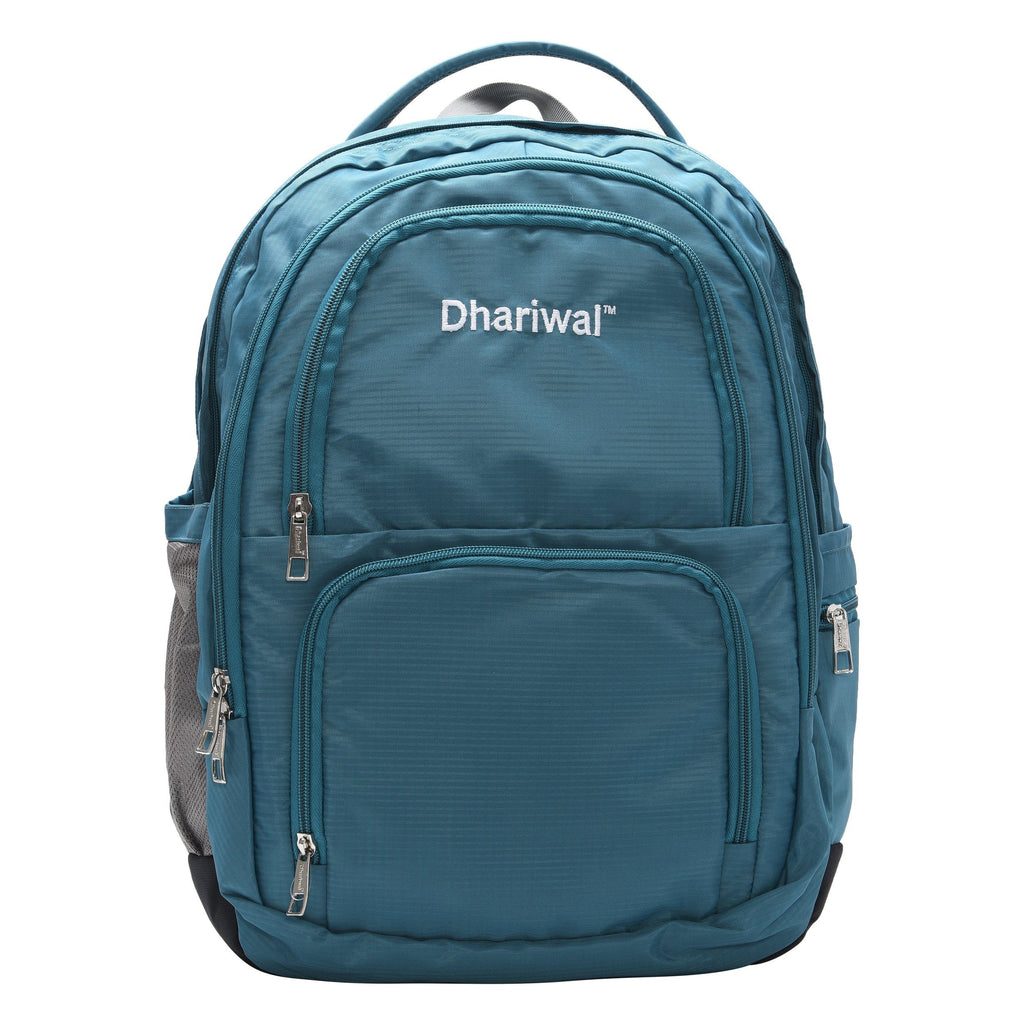 Dhariwal Unisex Dual Compartment Laptop Backpack With Back Air Flow Cushion 34L LB-105 Laptop Bags Mohanlal Jain (Dhariwal Bags) Teal