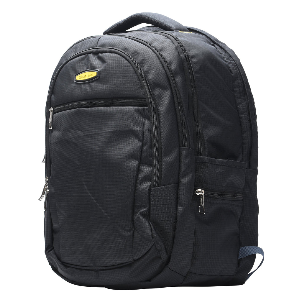 Dhariwal Unisex Dual Compartment Laptop Backpack With Rain Cover 51L LB-106 Laptop Bags Mohanlal Jain (Dhariwal Bags)