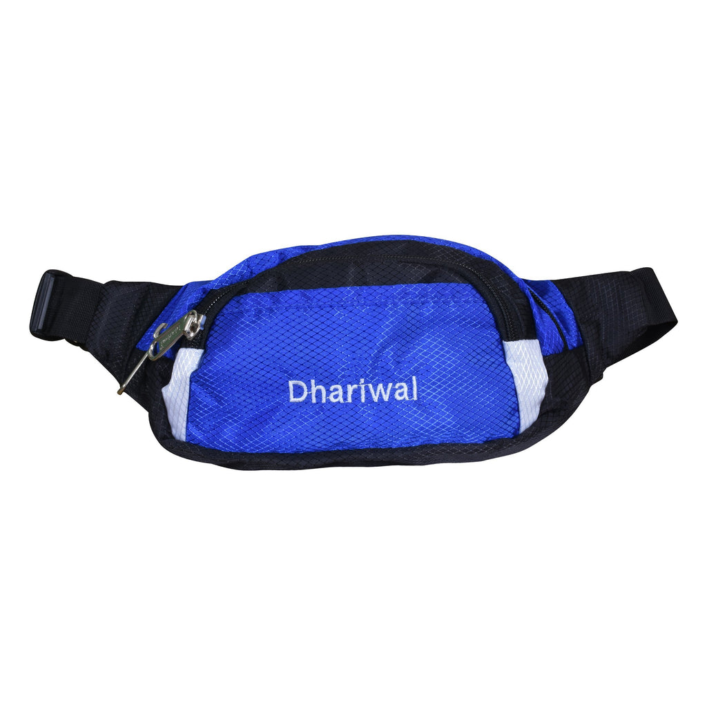 Dhariwal Waist Pack Travel Handy Hiking Zip Pouch Document Money Phone Belt Sport Bag Bum Bag for Men and Women Polyester WP-1201 Waist Pouch Dhariwal Blue