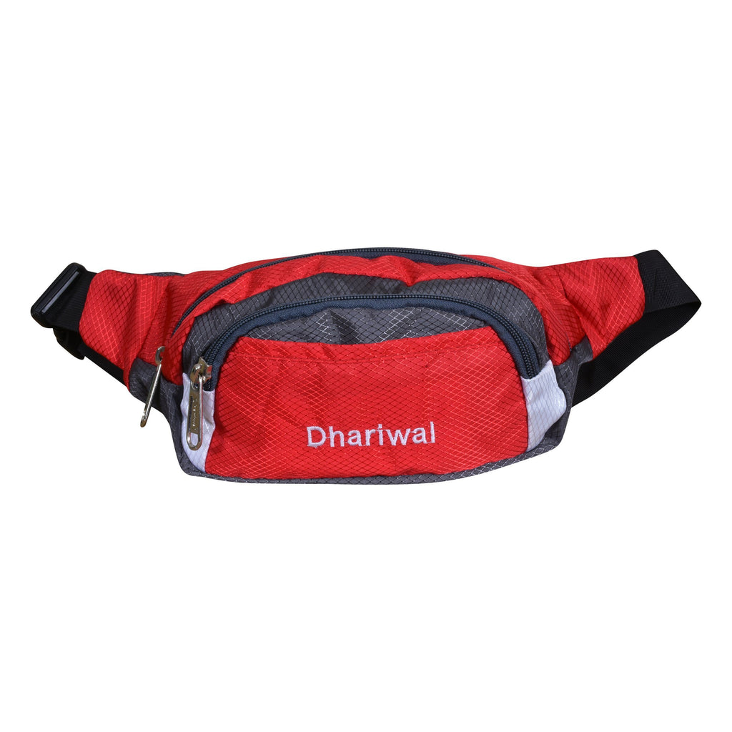 Dhariwal Waist Pack Travel Handy Hiking Zip Pouch Document Money Phone Belt Sport Bag Bum Bag for Men and Women Polyester WP-1201 Waist Pouch Dhariwal Red