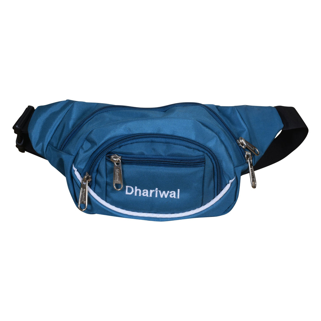 Dhariwal Waist Pack Travel Handy Hiking Zip Pouch Document Money Phone Belt Sport Bag Bum Bag for Men and Women Polyester WP-1202 Waist Pouch Dhariwal Teal