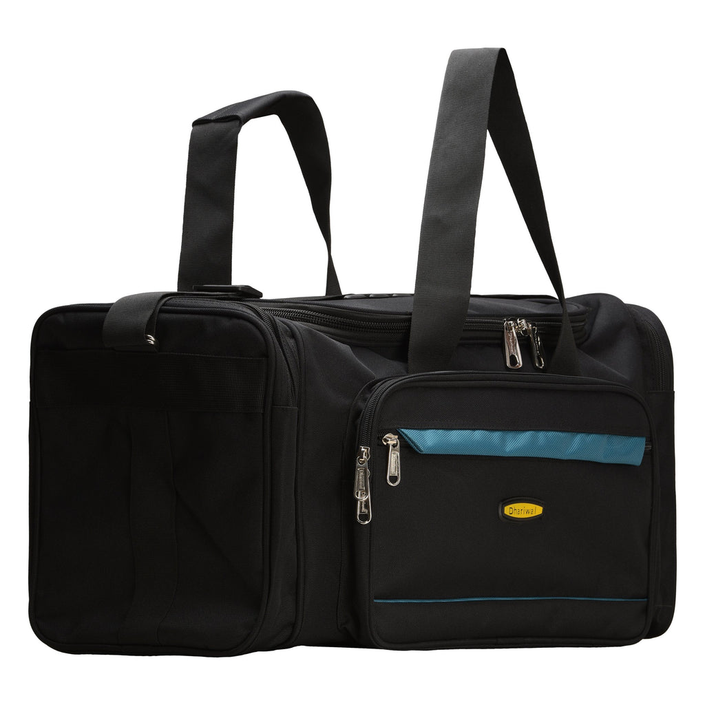 Handy Travelling Bag 900 X 900 Matty 50cm x 28cm x 22 cm TRB-518 Travelling Bags Dhariwal Black