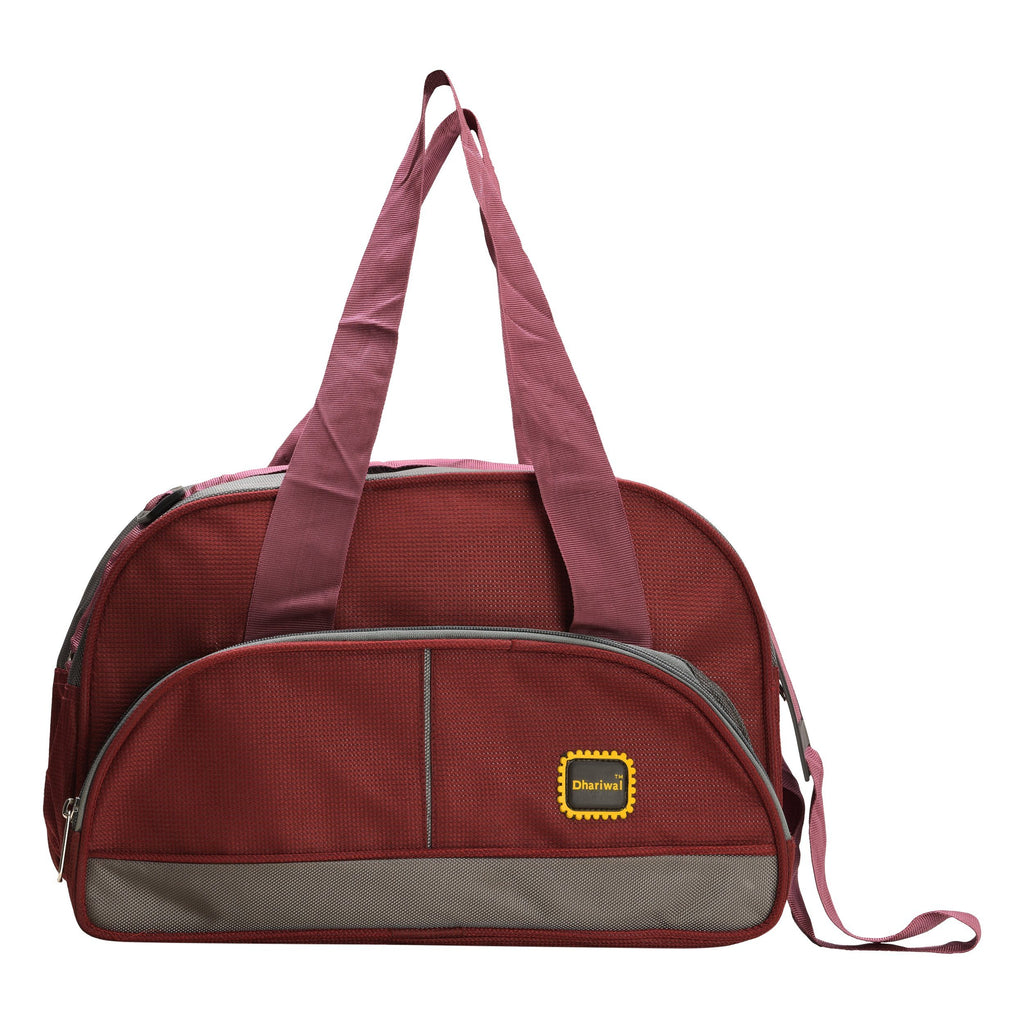 "Travelling Bag D 16"" TRB-508 - Small Travelling Bags Dhariwal Maroon"