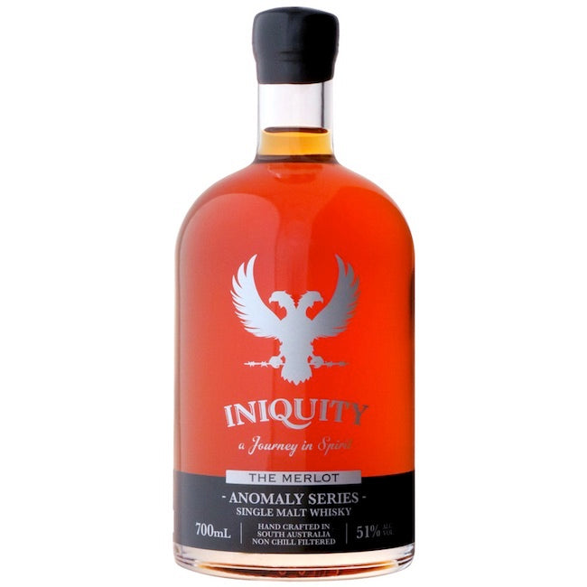 Iniquity Single Malt Whisky - Anomaly Series - The Merlot 51% ABV | 700 mL