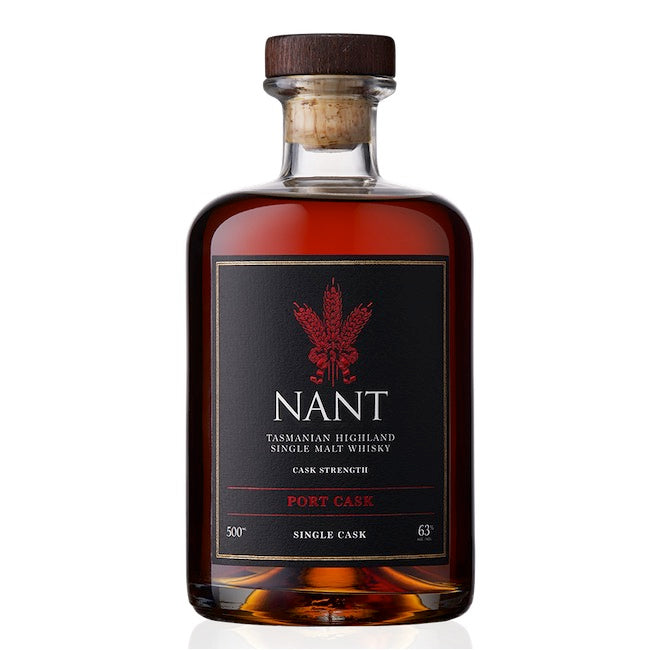 Nant Tasmanian Highland Single Malt Whisky Port Cask- cask strength 63% ABV