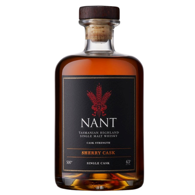 Nant Tasmanian Highland Single Malt Whisky Sherry Cask Strength | 63% ABV | 500 mL