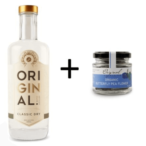 Original Classic Dry Gin and Butterfly Pea Flowers