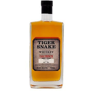 Tiger Snake cask strength whiskey 65.6% 700mL