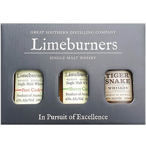 Limeburners Single Malt Whisky Gift Pack - Port, Sherry, Tiger Snake