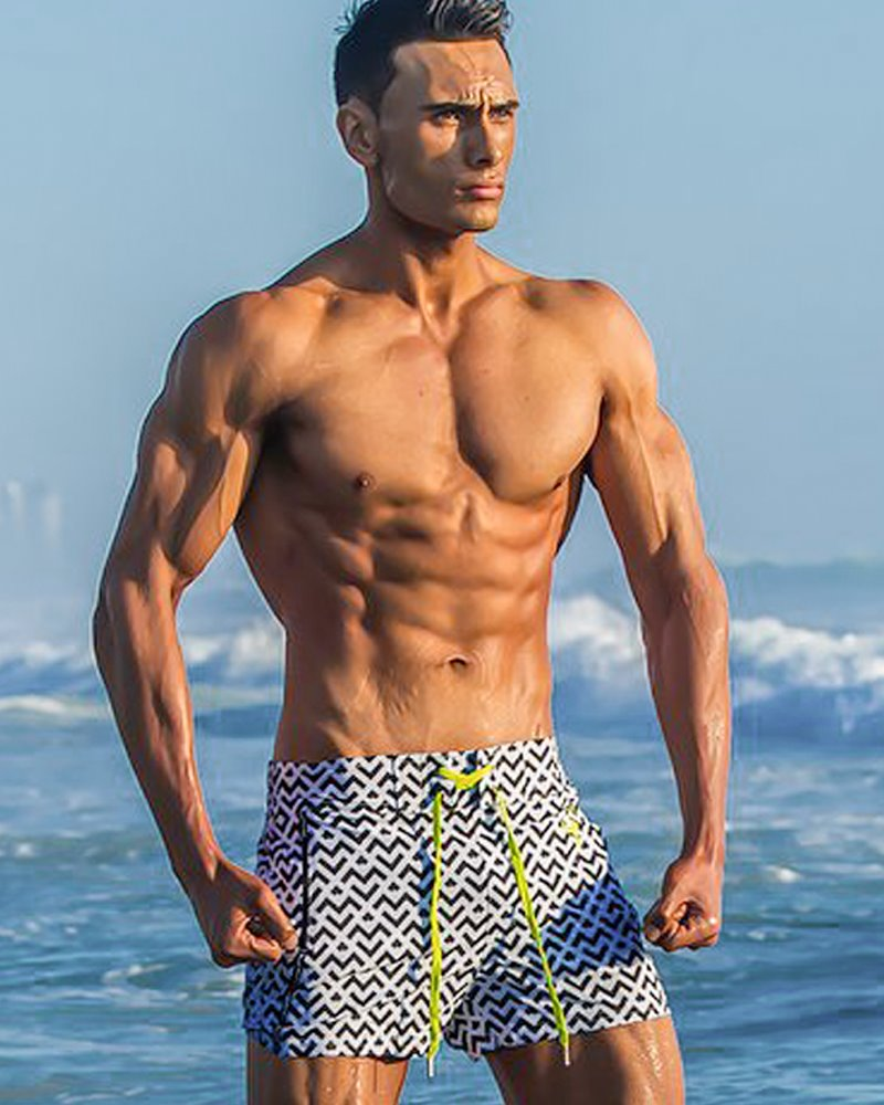 Arrow White Swim Trunks Shorts / Board shorts Tucann