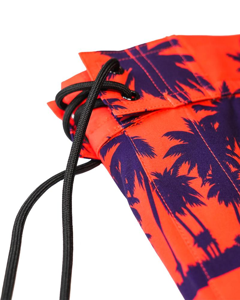 Black Palm Orange Swim Trunks Shorts / Board shorts Tucann