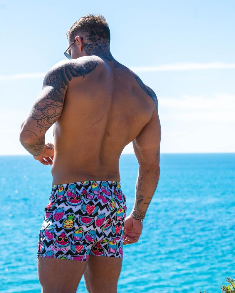 Cherry White Swim Shorts Shorts / Board shorts Tucann