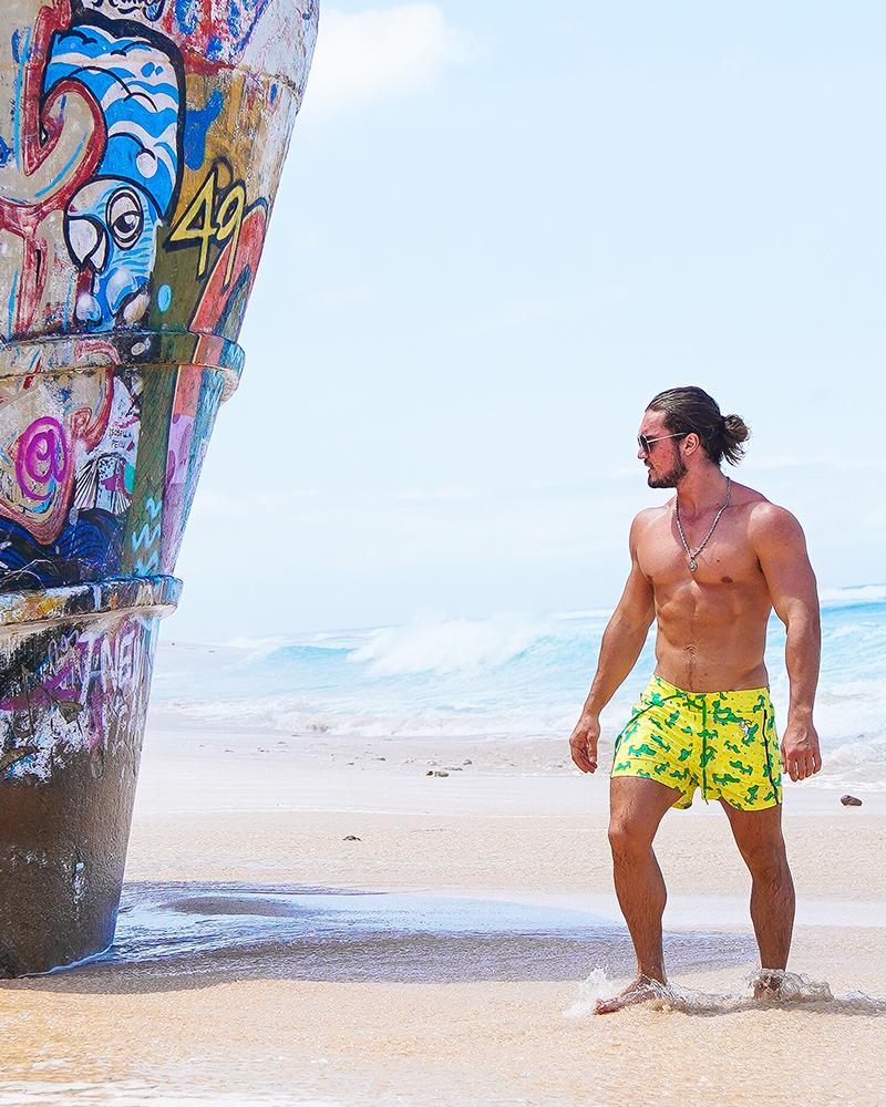 Croc Yellow Swim Shorts Shorts / Board shorts Tucann