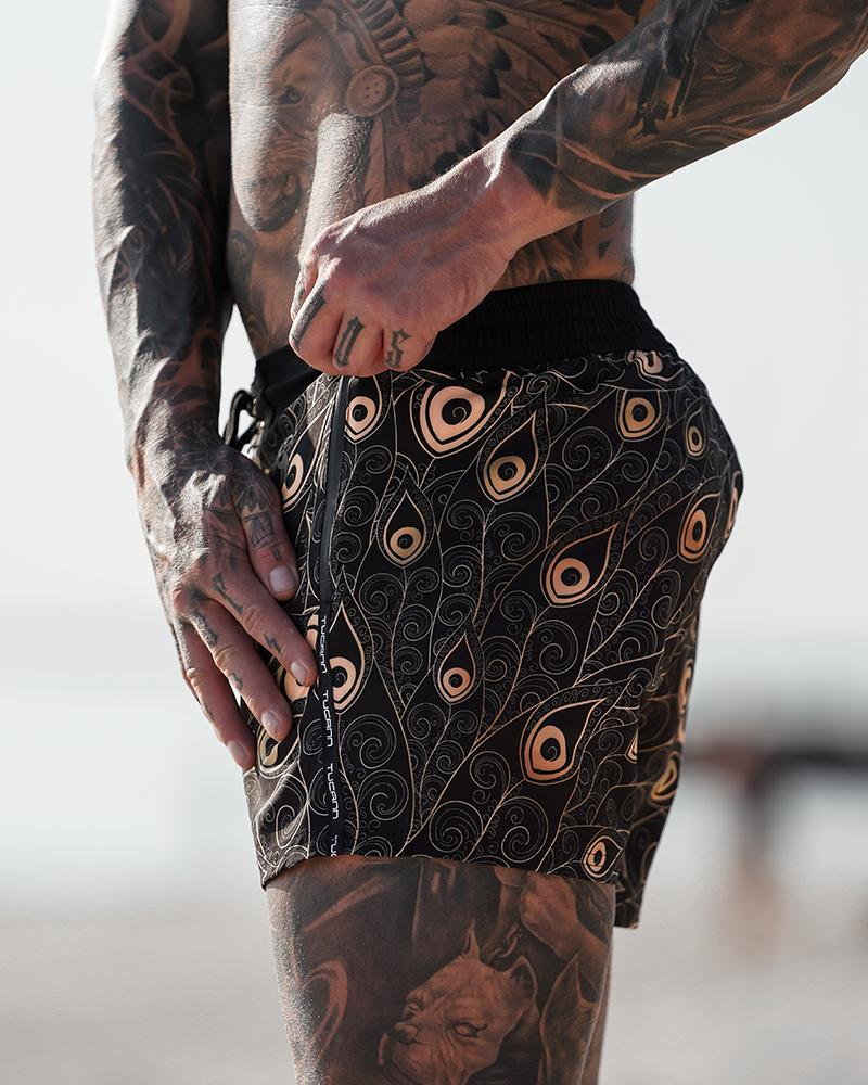 Golden Peacock Shorts / Board shorts Tucann