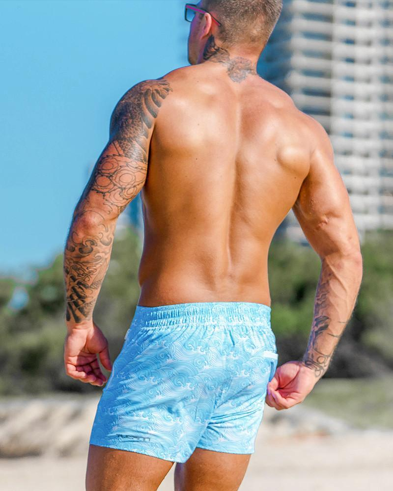 Make Waves Blue Swim Shorts Shorts / Board shorts Tucann