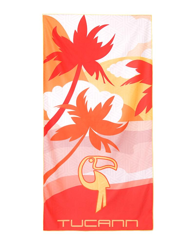 Peach Palms Beach Towel Towel Tucann