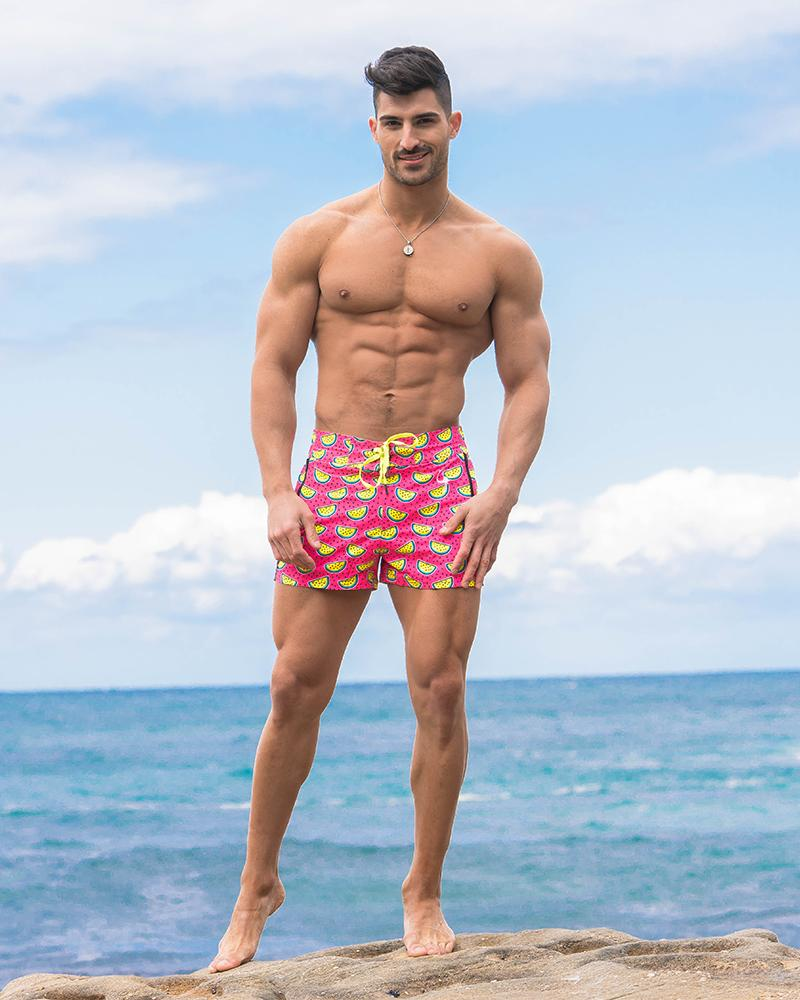Pink Watermelon Swim Shorts Shorts / Board shorts Tucann