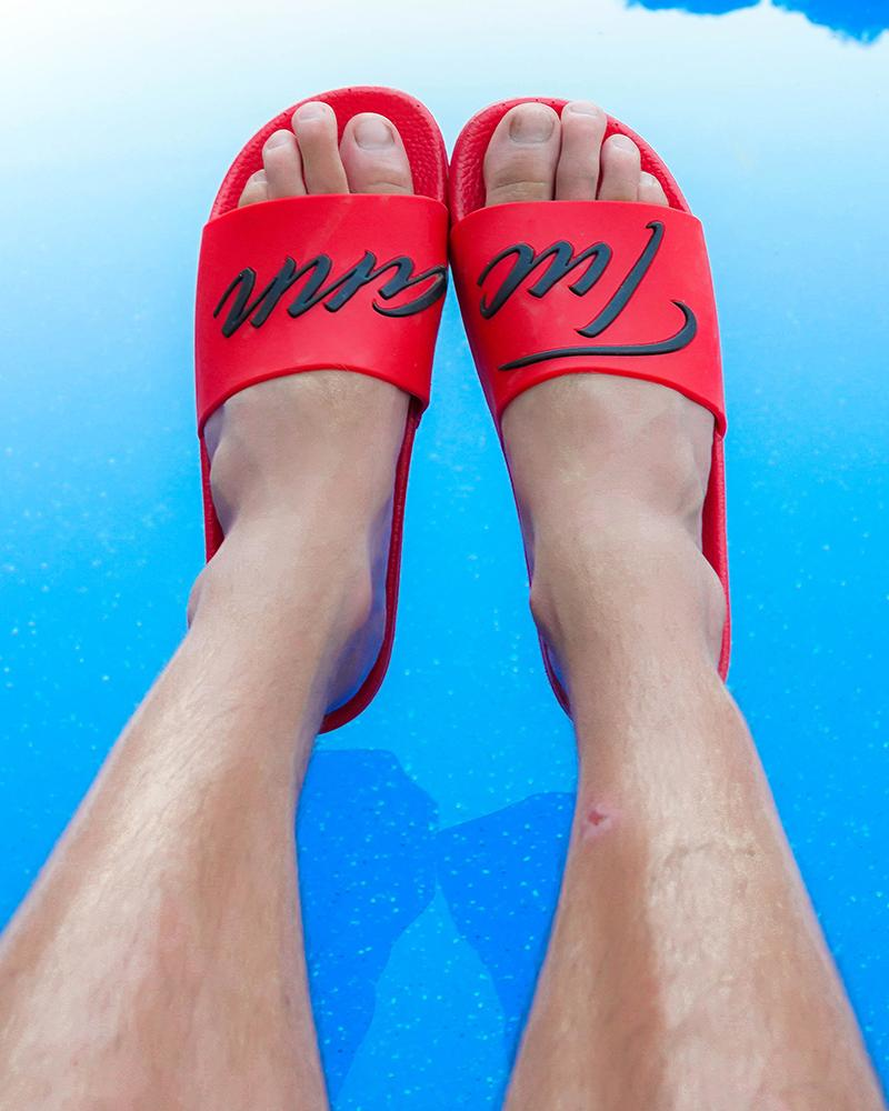 Signature Slides Red Footwear Tucann