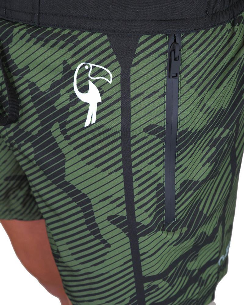 Striped Camo Green Swim Shorts Shorts / Board shorts Tucann