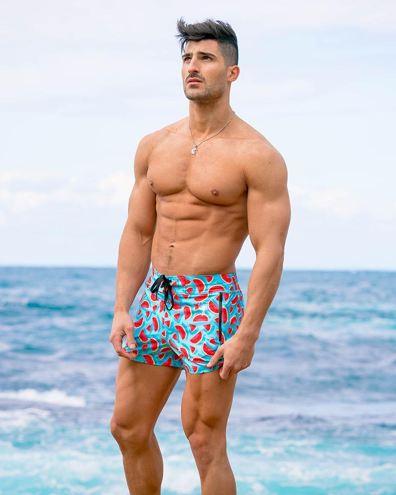 Watermelon 2 Blue Swim Shorts Shorts / Board shorts Tucann