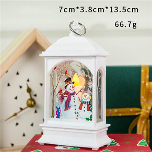 Christmas Shinning Santa Snowman Elk Decoration