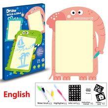 Load image into Gallery viewer, LED Luminous Drawing Board Cartoon Animal Drawing Tablet