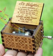Load image into Gallery viewer, Mum To Daughter - You Are Loved More Than You Know - Engraved Music Box