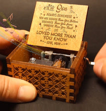 Load image into Gallery viewer, Mum To Son - You Are Loved More Than You Know - Engraved Music Box