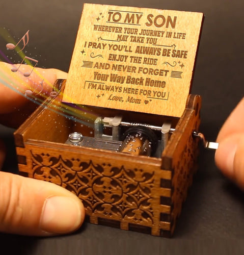 Mom To Son - Enjoy The Ride - Engraved Music Box