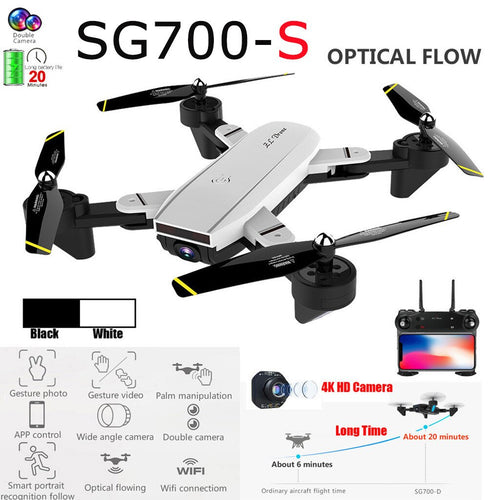 SG700-S Drone 2.4Ghz 4CH wide angle WiFi 4K HD dual camera quadcopter hover RC drone