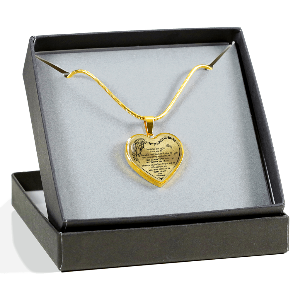 MY BELOVED HUSBAND - REAL 18K GOLD FINISH - NECKLACE & BANGLE