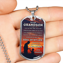Load image into Gallery viewer, MY GRANDSON - SOUL OF MY LIFE (SILVER)