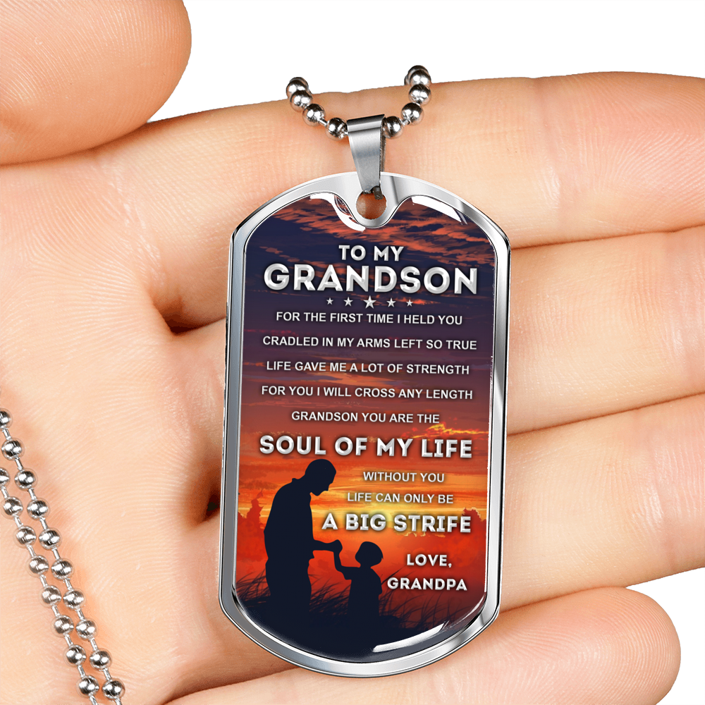 MY GRANDSON - SOUL OF MY LIFE (SILVER)