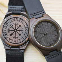 Load image into Gallery viewer, Viking Pride - Viking Compass Wooden Watch