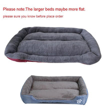 Load image into Gallery viewer, 9 Colors Paw Pet Sofa Dog Beds Waterproof Bottom Soft Fleece Warm Cat Bed House