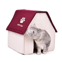 Load image into Gallery viewer, Soft surface warm color pet cabin