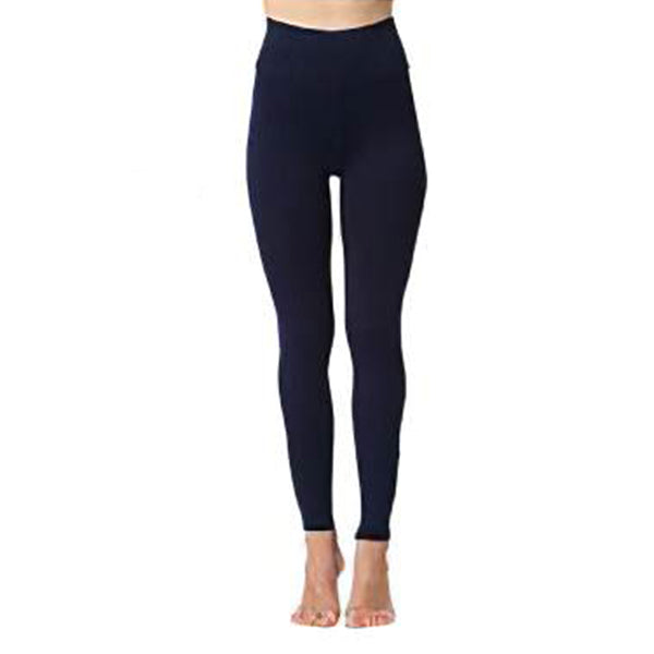 Blue High Waist Stretch Pants
