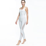 White Mesh Yoga Suit