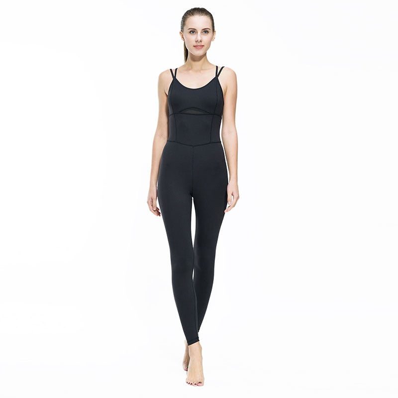 Backless Yoga Jumpsuit
