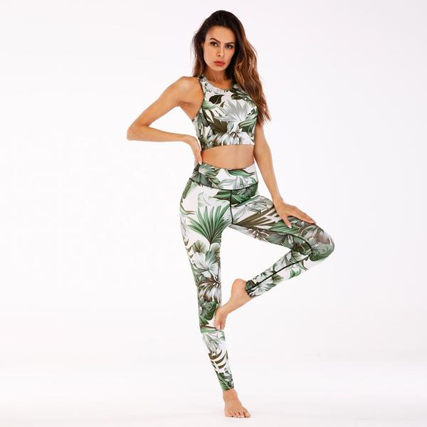 Flower Yoga Set Light Green