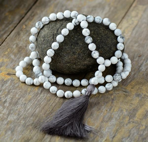 Howlite Tassel Necklace