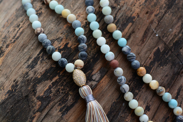 Matte Natural Stone Necklace