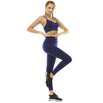 Blue Solid Yoga Set