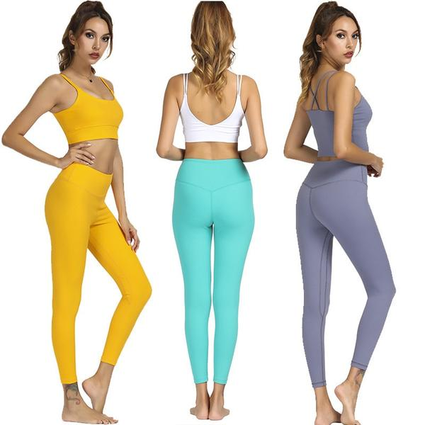 Yellow High Waist Soft Yoga Pants