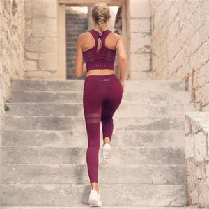 High Waist Yoga Set Red