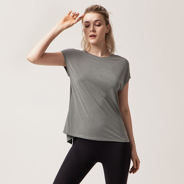 Loose Back Split Shirt