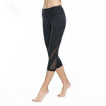 Mesh Yoga Capri Black