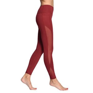Comfortable Yoga Leggings Red