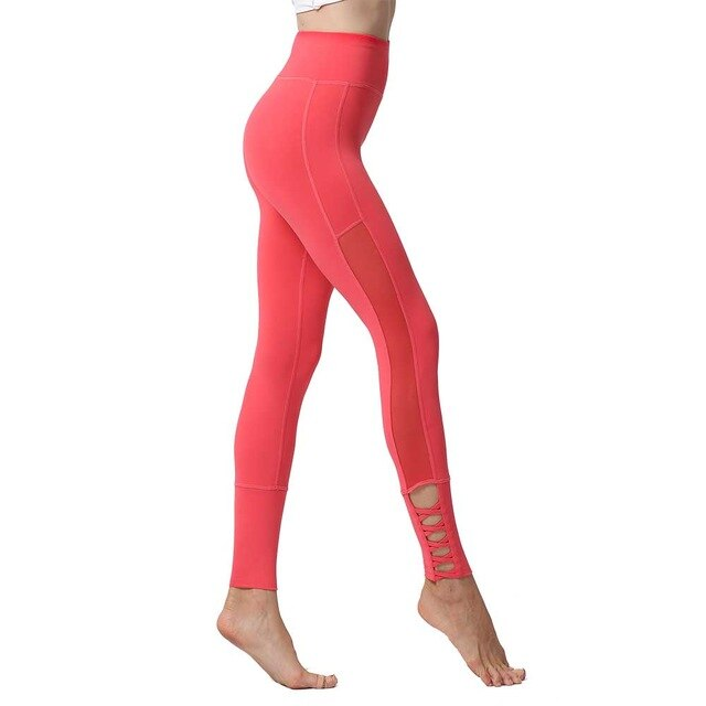 Coral High Waist Stretch Pants